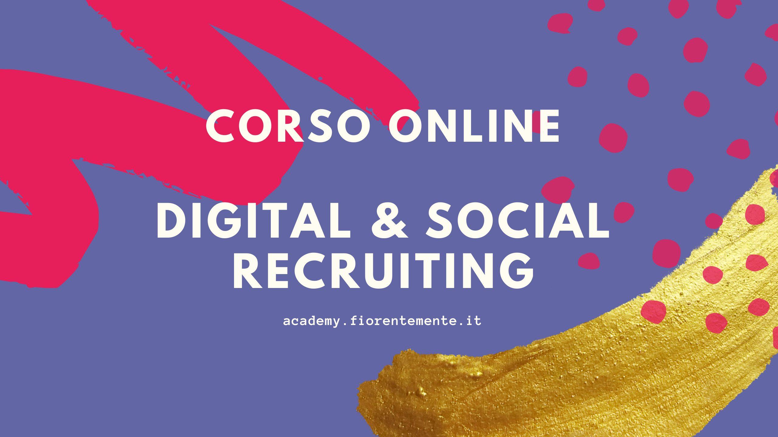 Corso Digital & Social Recruiting